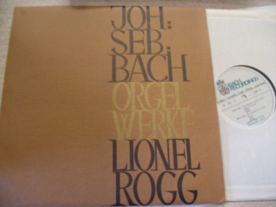 LIONEL ROGG - BACH ORGAN - BACH RECORDINGS B - OR - 9