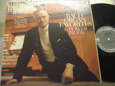 E POWER BIGGS - BACH ORGAN VOL 2 - COLUMBIA 2 EYE