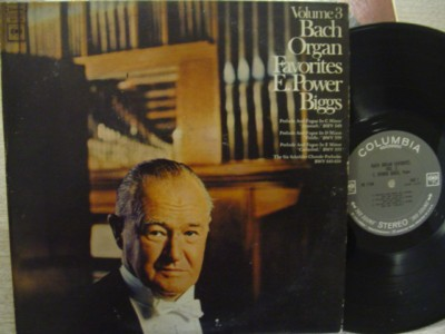 E POWER BIGGS - BACH ORGAN VOL 3 - COLUMBIA 2 EYE