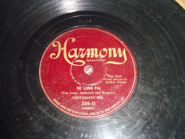 UNIVERSITY SIX - SO LONG PAL - HARMONY 78