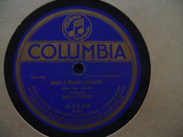 ARTHUR FIELDS - BILLY JONES - COLUMBIA A 3539