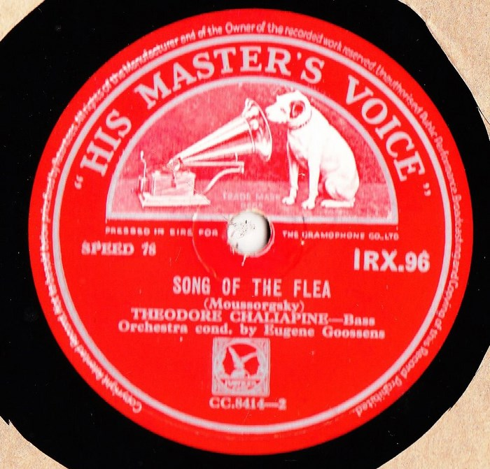 Theodore Chaliapine - Song of the Flea - HMV IRX.96 Irish