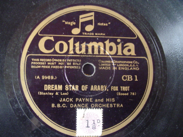 JACK PAYNE - DREAM STAR OF ARABY - COLUMBIA CB 1