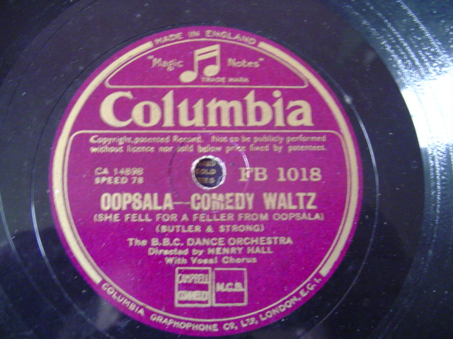 BBC DANCE ORCHESTRA - HENRY HALL - COLUMBIA FB. 1018