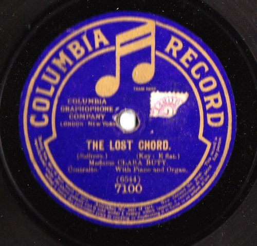 Dame Clara Butt - The Lost Chord - Columbia 7100