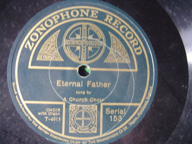 CHURCH CHOIR - ETERNAL FATHER - ZONOPHONE