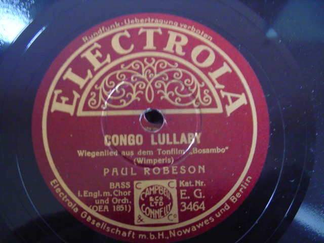 PAUL ROBESON - CONGO LULLABY - ELCETROLA EG 3464
