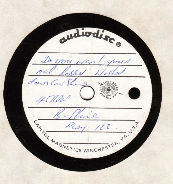 PLAY 122 - Brendan Shine - Do you want r old Lobby - ACETATE