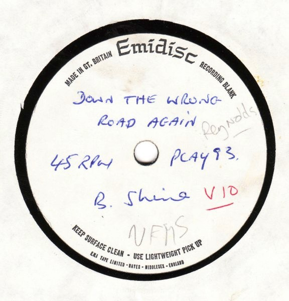 PLAY 093 - Brendan Shine - Down the wrong road again - ACETATE