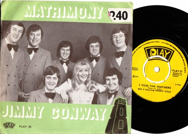 PLAY 025 - Jimmy Conway & The Big 8 - 1972 Picture Sleeve