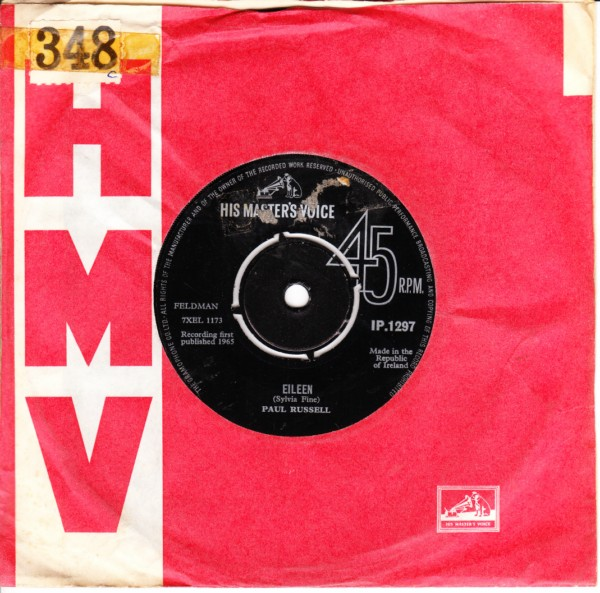 HMV IP.1297 - Paul Russell - Eileen - 1965