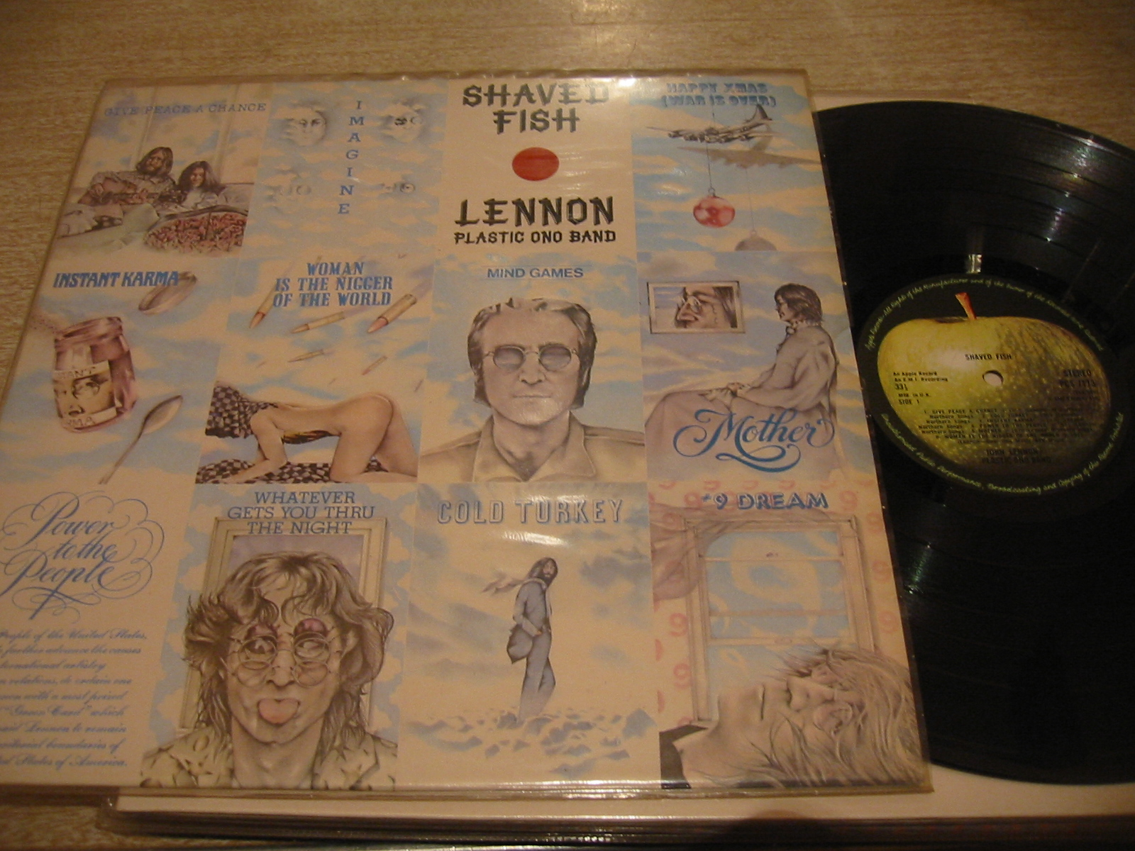 JOHN LENNON - SHAVED FISH - APPLE UK 1975