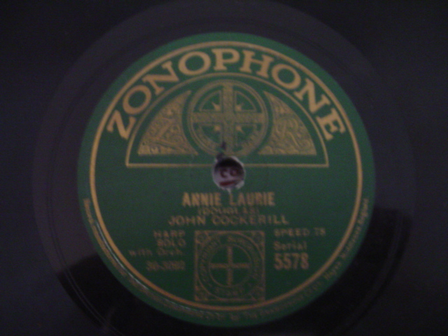 JOHN COCKERILL harp - ANNIE LAURIE - ZONOPHONE