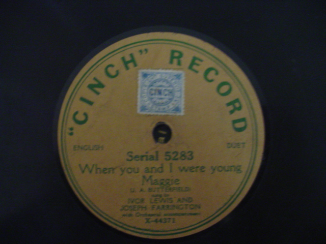 IVOR LEWIS & JOSEPH FARRINGTON - CINCH RECORDS