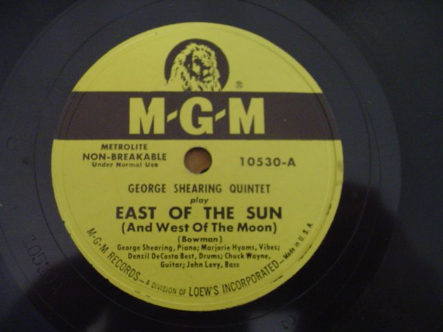 George Shearing - EAST OF THE SUN - MGM
