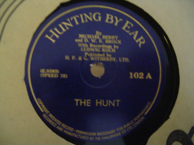 HUNTING BY EAR - THE HUNT - MICHAEL BERRY
