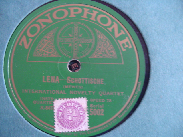 INTERNATIONAL NOVELTY QUARTET - LENA - ZONOPHONE