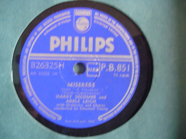 HARRY SECOMBE & ADELE LEIGH - MISERERE - PHILIPS # 2159