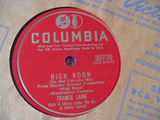 FRANKIE LAINE - HIGH NOON - COLUMBIA 39770