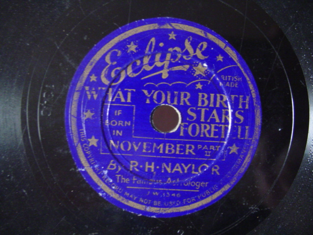 ECLIPSE RECORDS # 345 - what your stars foretell NOVEMBER