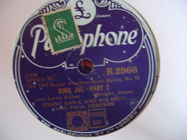 COUNT BASIE PAUL ROBESON - KING JOE - PARLOPHONE