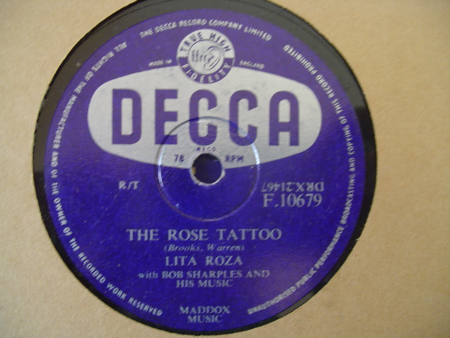 LITA ROZA - JIMMY UNKNOWN - DECCA