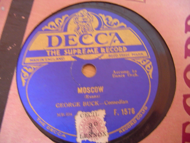 GEORGE BUCK COMEDIAN - MOSCOW - DECCA