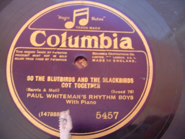 PAUL WHITEMAN RHYTHM BOYS - LOUISE - COLUMBIA