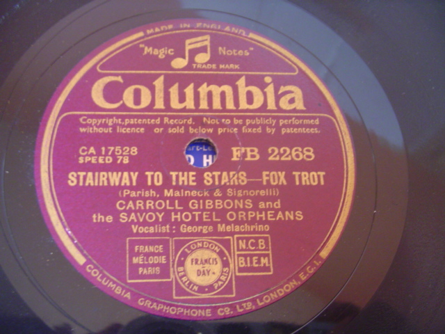 CARROLL GIBBONS SAVOY ORPHEANS - FDR JONES - COLUMBIA