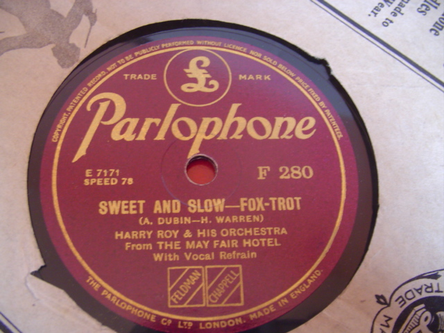 HARRY Roy - SWEET & SLOW - PARLOPHONE