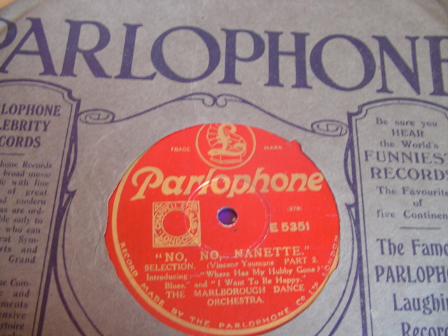 MARLBOROUGH DANCE ORCHESTRA - NO NANETTE - PARLOPHONE