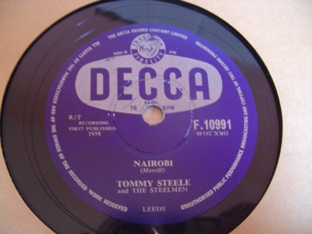 Tommy Steele - NEON SIGN - DECCA 78 IRISH PRESS