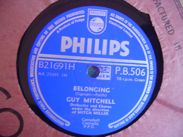 GUY MITCHELL - WHEN BLINKY BLOWS - PHILIPS