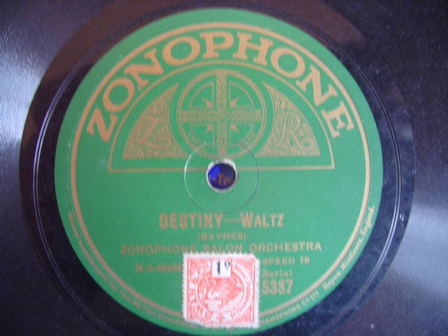 ZONOPHONE SALOON ORCH - ECSTASY - ZONOPHONE