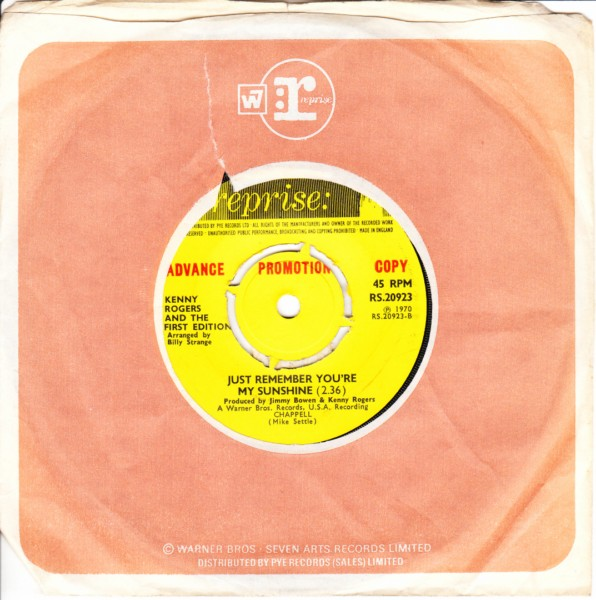 Kenny Rogers & First Edition - Tell all Brother - Reprise Demo