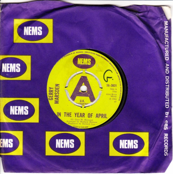 Gerry Marsden - In the year of April - Nems Demo 3861