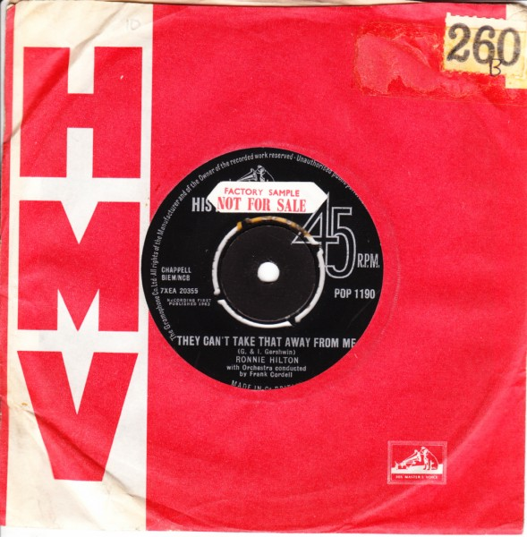 Ronnie Hilton - They cant take that away from me - HMV 4080
