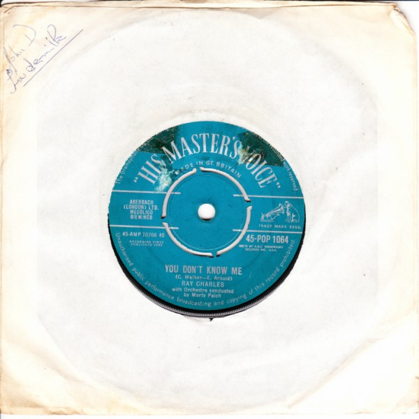 Ray Charles - Careless Love - HMV 4083