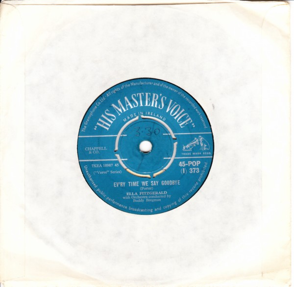 Ella Fitzgerald - Manhattan - HMV Irish 4085