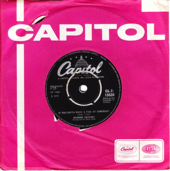 Bobbie Gentry - Billy The Kid - Capitol Irish 4099