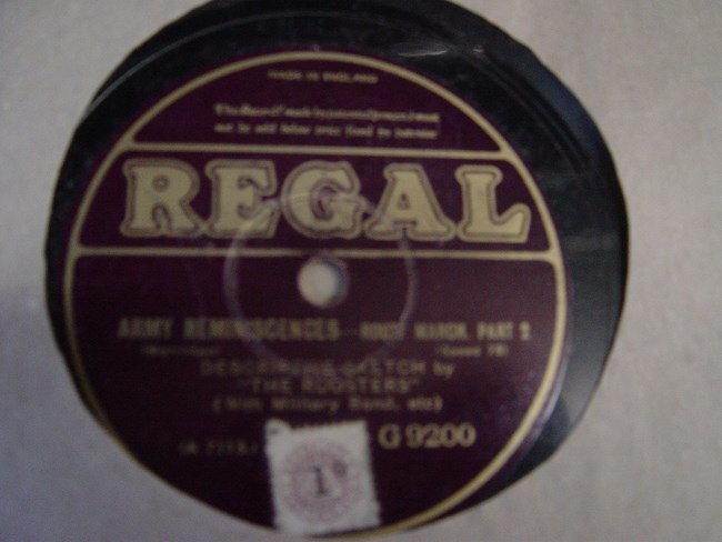 Roosters Concert Party - Army Reminiscences - Regal G.9200