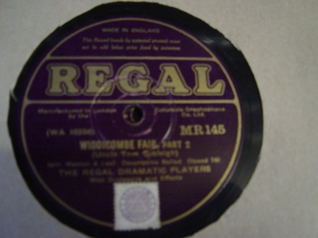 Regal Dramatic Players - Widdicombe Fair - Regal MR.145