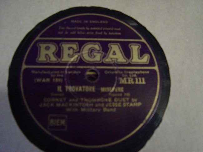 Jack Mackintosh & Jesse Stamp - Coronet Trombone - Regal MR.111