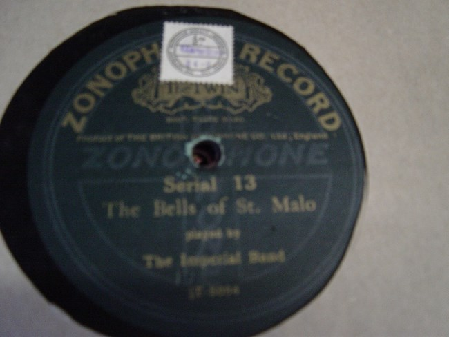 The Imperial Band - Bells of St. Malo - Zonophone 13