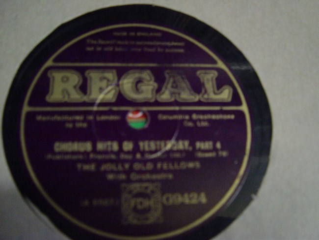The Jolly old Fellows - Chorus Hits Yesterday - Regal G.9424