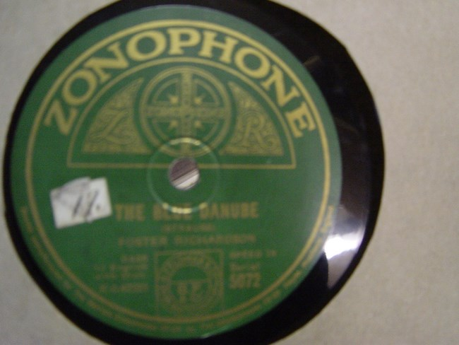 Foster Richardson - The Blue Danube - Zonophone 5072