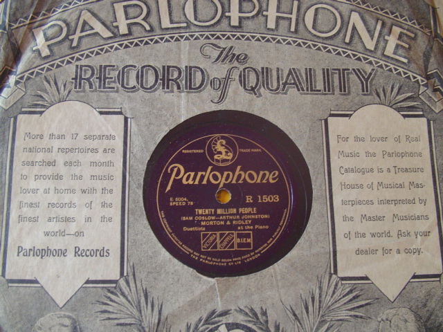 MORTON & RIDLEY - PIANO DUET - PARLOPHONE