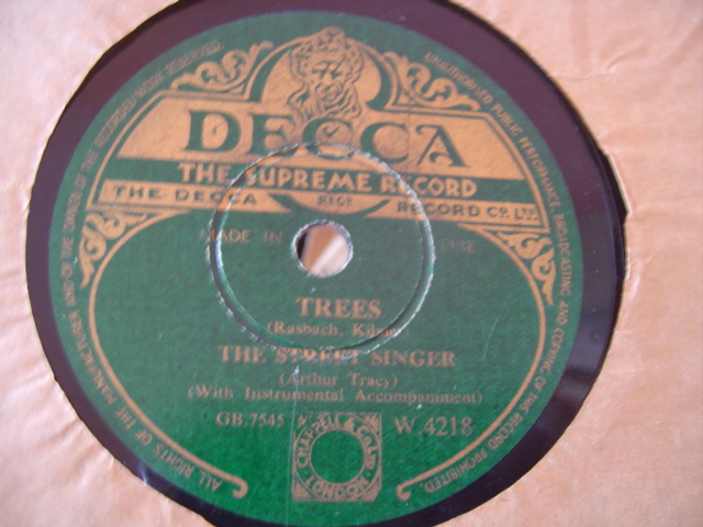 The Street Singer - MARTA - DECCA IRISH PRESS