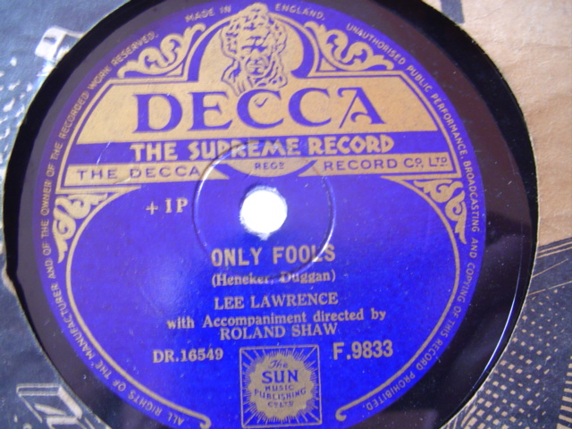 LEE LAWRENCE - ONLY FOOLS , NEVER - DECCA