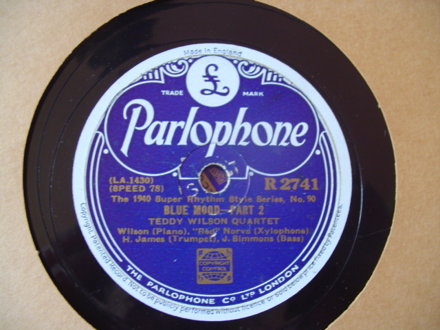 TEDDY WILSON QUARTET - BLUE MOON - PARLOPHONE